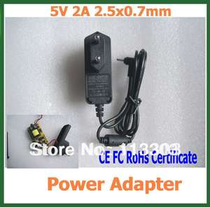 Power-Adapter Tablet 2A 5V for Android PC Q88/Yuandao/N70/.. 200pcs Ce-Fc Rohs-Certificate