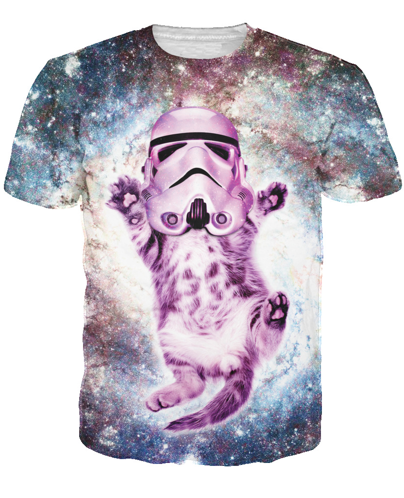 Cat Trooper Galactic Empire T Shirt y tee sparkly stormtrooper