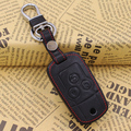 For Head layer leather Key case chain Key Rings car accessories for Honda civic 9gen 2012 2013 2014
