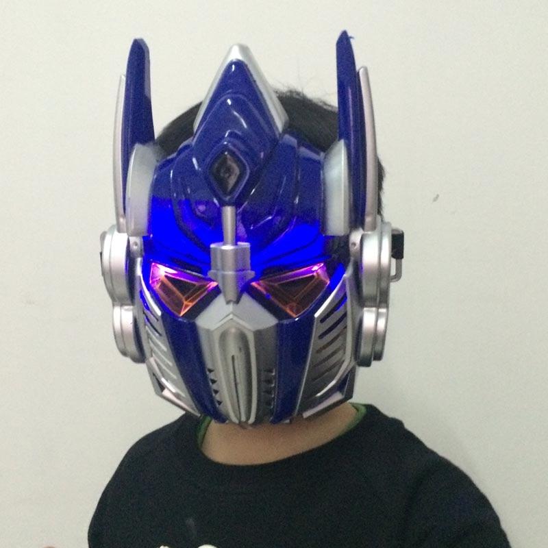 10PCS-Luminous-Optimus-Prime-mask-Light-