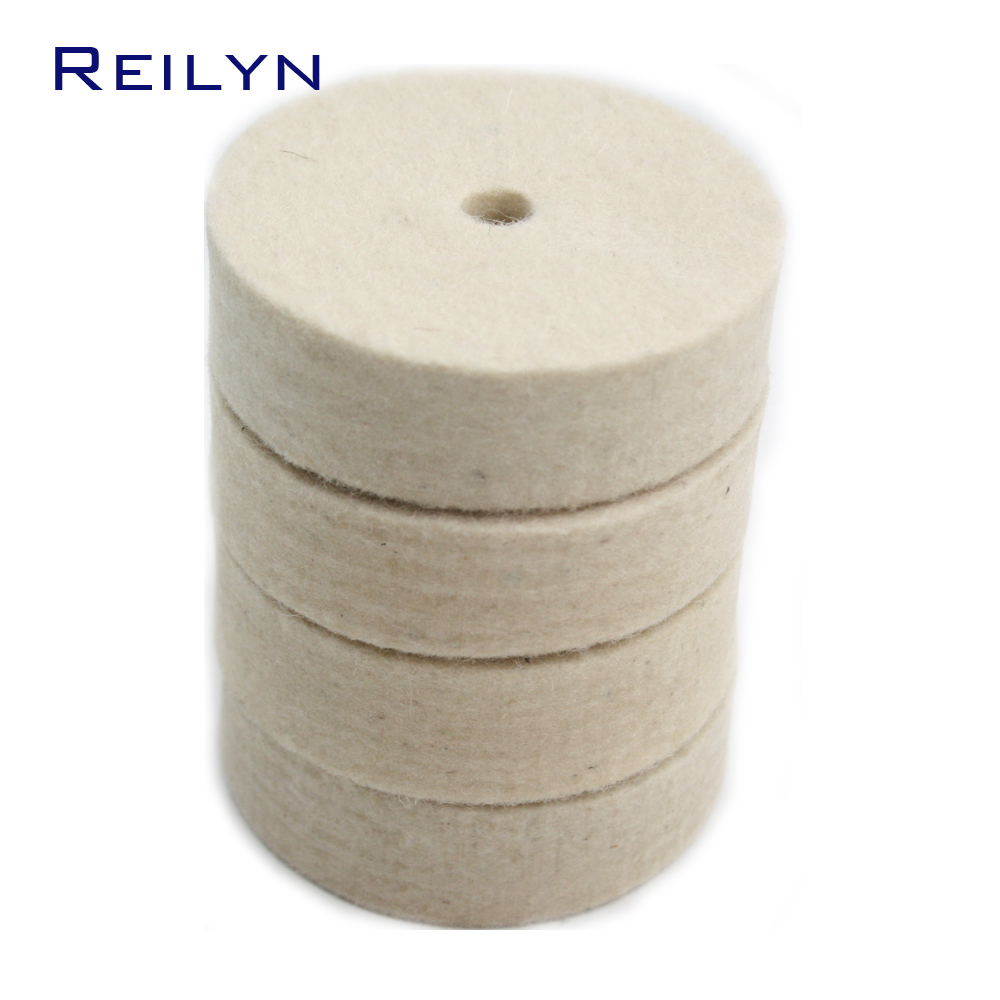 2x 5 125mm Wool Felt Polisher Wheel Pad Buffing Polishing Disc For Rotary Tool