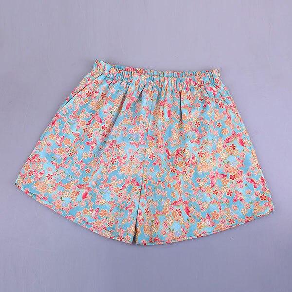 UNIKIWI. Милые летние хлопковые Пижамные шорты для сна, женские свободные пижамные штаны с эластичной резинкой на талии размера плюс M-XL отдыха. 21 цвет - Цвет: 017