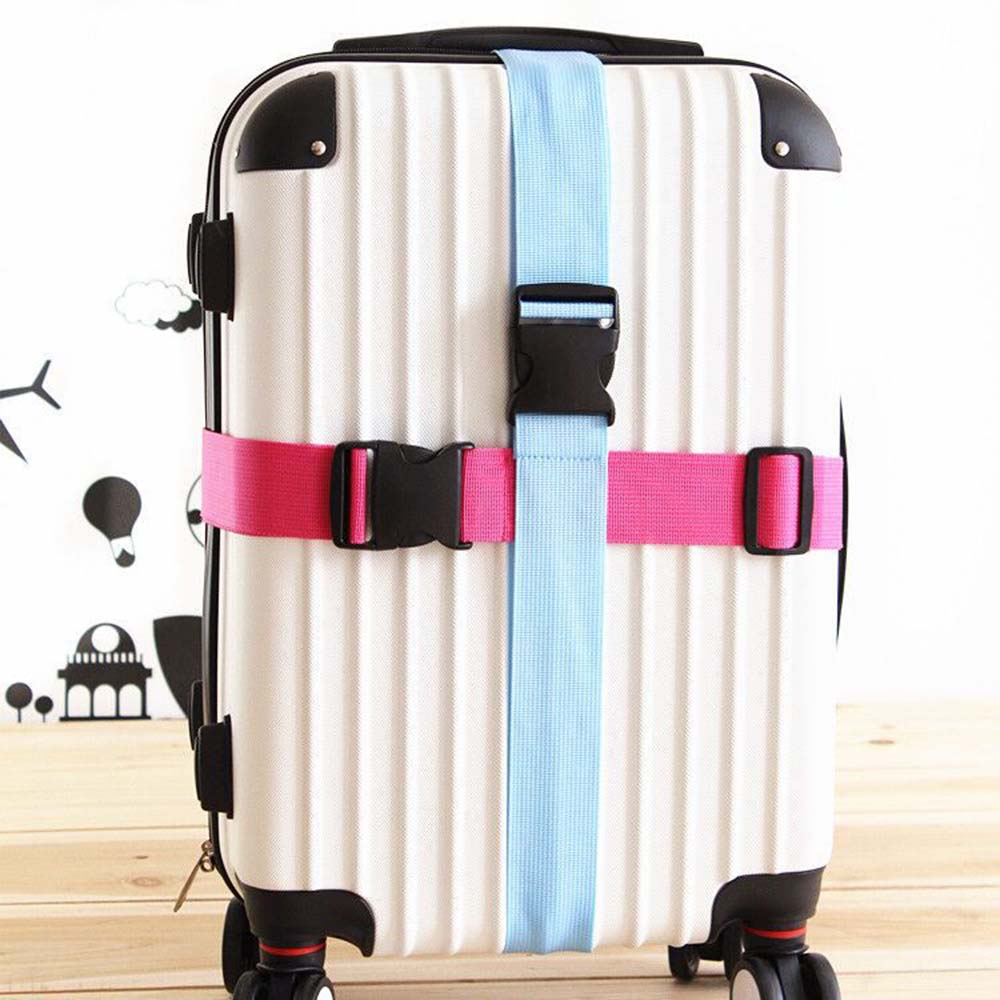 Travel Baggage Adjustable Suitcase Luggage Straps Tie Down Belt Buckle Strap Travel Accessories High Quality