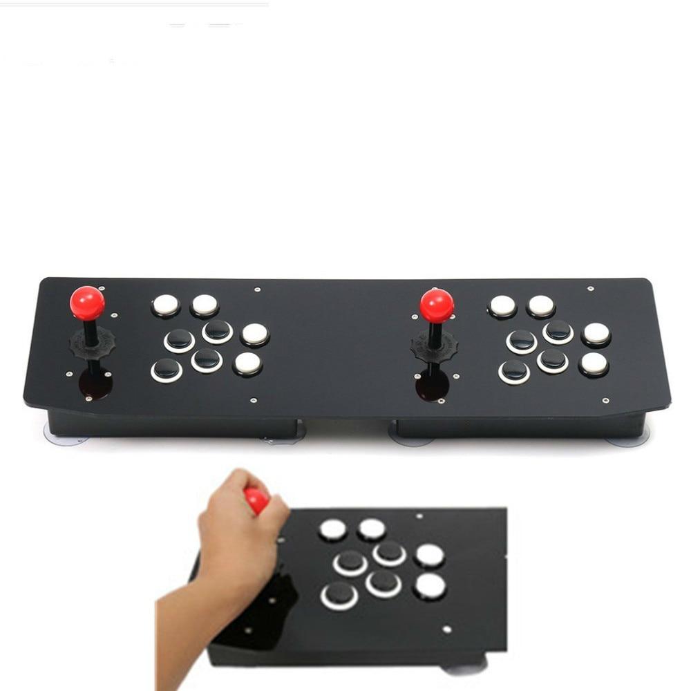 Vidéo Jeu Joystick Contrôleur double Arcade Stick Gamepad pour Windows PC USB Ergonomique Concevoir Profiter De Jeu Amusant