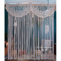 160*160cm Macrame Hand woven Tapestry wall hanging Outdoor Lawn Retro Sen Wedding Background Curtain Curtain Partition Curtain