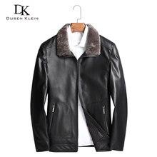 Down Coat men Genuine leather jacket Dusen Klein Nature sheepskin Wool collar Fashion/Slim designer down clothing black 71N502