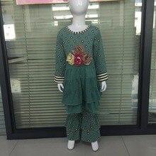 Mignon Bébé Fille Vêtements Enfants Floral Col Rond À Manches Longues Top Et Pantalon Moutarde Tarte Remake Boutique Enfants Vêtements Ensembles F075