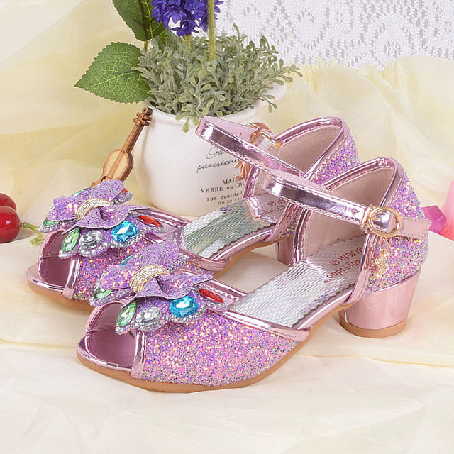 80c0e52d53173a Carré Talons Poisson Bouche Paillettes Chaussures De Mariage De Princesse  Danse Chaussures de Scène Chaussures For4