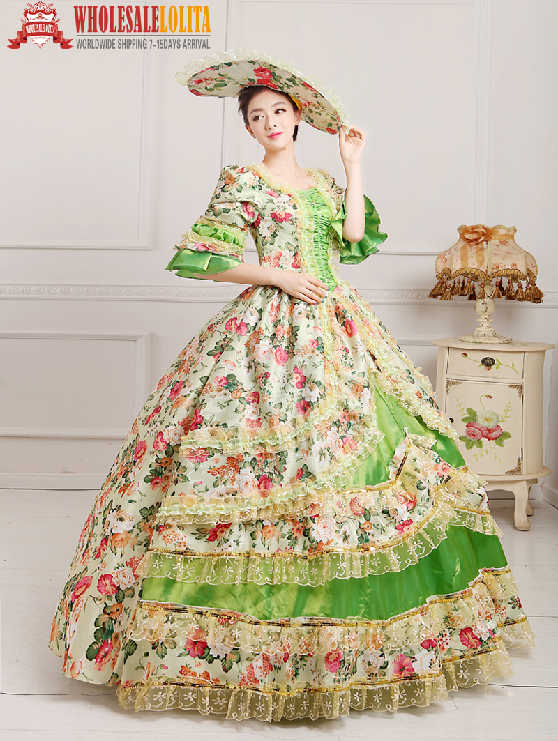 Women's Clothing High-end Red Floral Marie Antoinette Wedding Party Dress 17th 18th Century Medieval Victorian Carnivale Gown For Women 2019 Latest Style Online Sale 50%