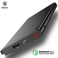 Baseus 20000mAh Quick Charge 3 0 Dual USB Power Bank LCD Powerbank External Battery Charger For