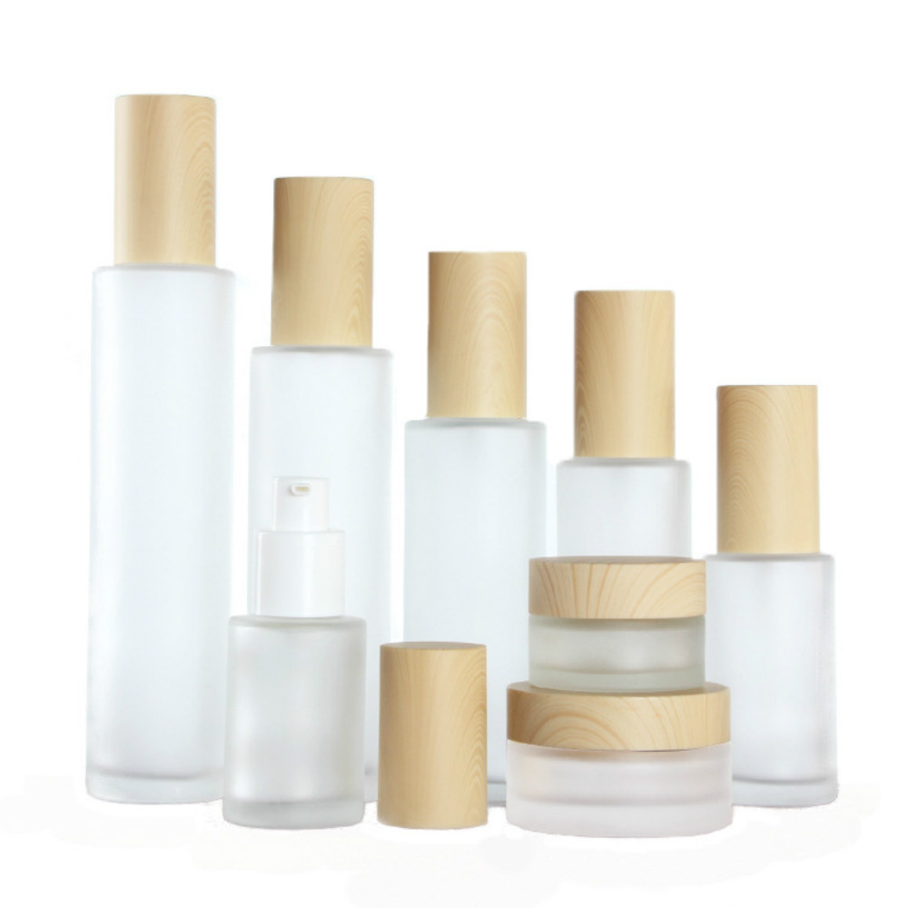 50pcs 20ml 30ml 40ml 50ml 60ml 80ml 100ml <font><b>120ml</b></font> frosted glass lotion <font><b>bottle</b></font> essential oil <font><b>spray</b></font> empty <font><b>bottle</b></font> cosmetic packaging image