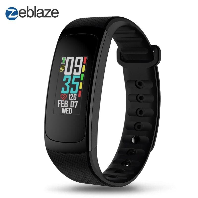 Zeblaze Plug C la Fréquence Cardiaque Continu Smart Bracelet Toujours-sur Écran Couleur Batterie Longue Vie et Rapide Recharge IP67 bracelet