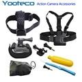 GoPro Accessories Set Chest Belt Head Hand Mount Strap Floaty Bobber Monopod for Go pro hero SJCAM SJ4000 Xiaomi Yi EKEN H9 Cam