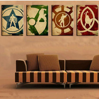 Hand Painted Abstract Marvel Comics Heroes Oil Painting America Hero Iron Man Hulk Captain Thor 4 Panel Pictures on Canvas Oils
