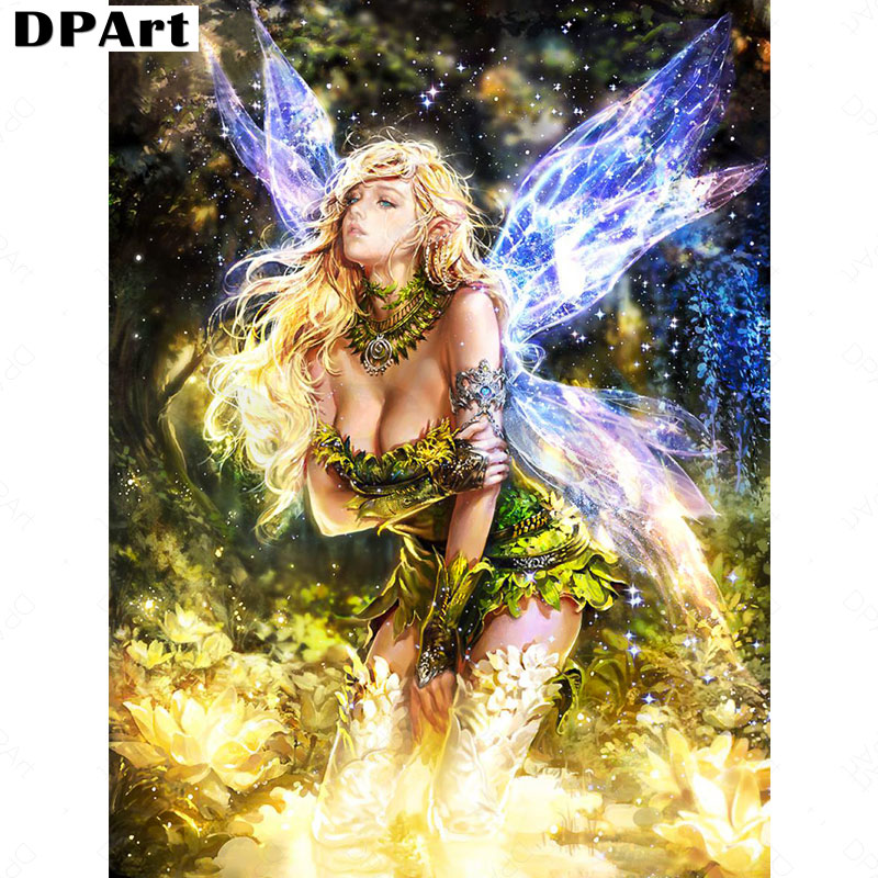 Daimond Painting 5D Full Square/ Round Butterfly Fairy Nymphora Diamond Rhinestone Embroidery Crystal Cross Stitch Mosaic M039Daimond Painting 5D Full Square/ Round Butterfly Fairy Nymphora Diamond Rhinestone Embroidery Crystal Cross Stitch Mosaic M039
