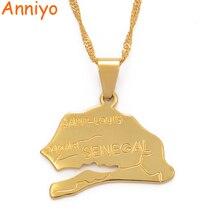 Anniyo/ожерелье с подвеской в виде карты для женщин и девушек, золотого цвета, ювелирные изделия в африканском стиле, этнические модели, карты#012210