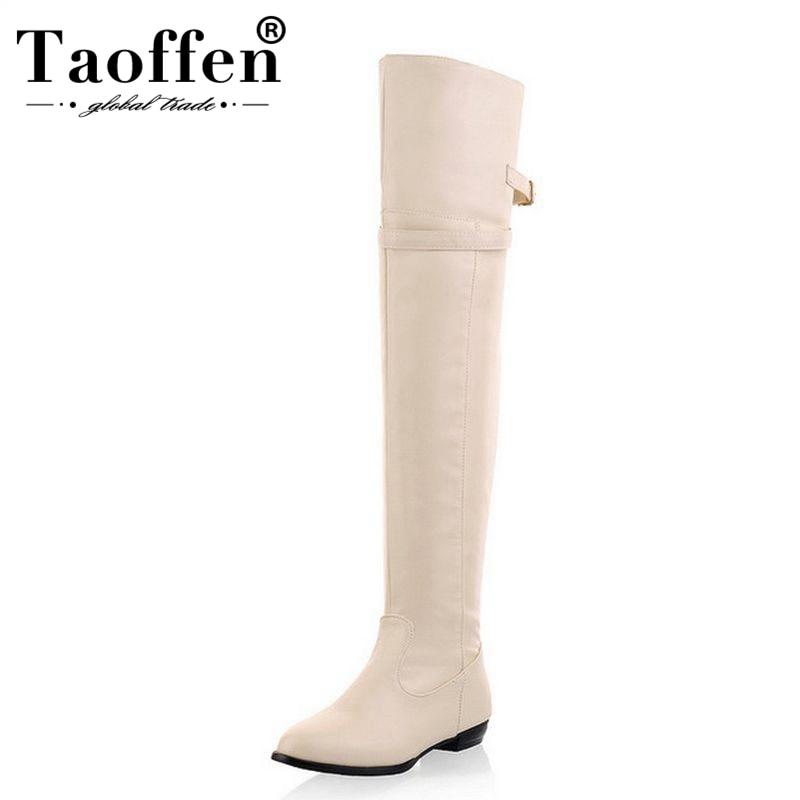 Tamanho 34-45 Mulheres Plana Sobre O Joelho Botas Moda Feminina Longo Bota de Neve Inverno Quente Botas Marca Calçados Sapatos p9460