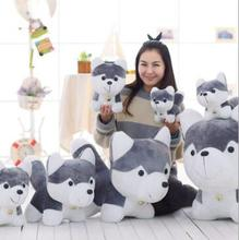 WYZHY hot new bell husky doll sleeping pillow plush toy send friends and children 30cm