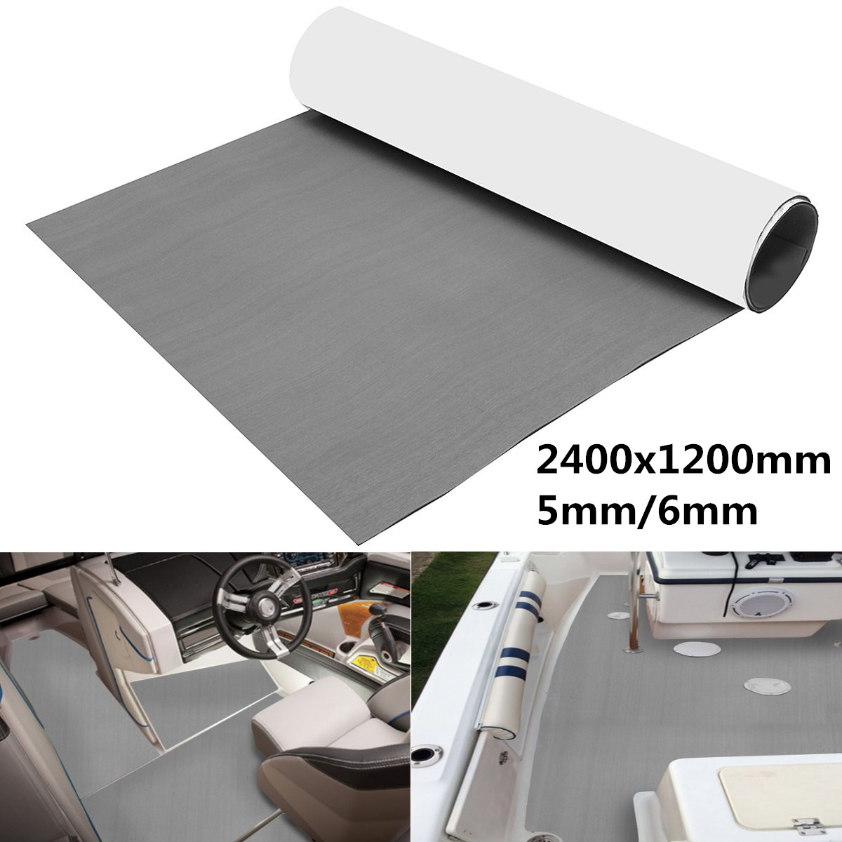 "6mm 2400x1200mm / 94\""x47\"" EVA Boat Foam Mat RV Touring Car Mat Interior Accessories Teak Decking <font><b>Floor</b></font> Yacht Sheet Pad"