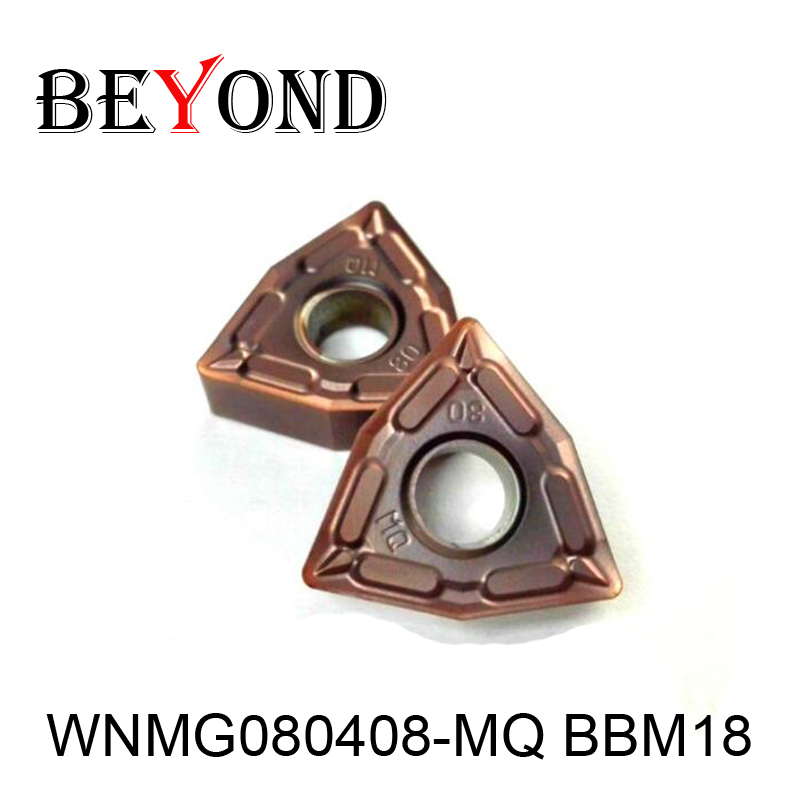 BEYOND 10pcs WNMG080408-MQ BBM18 WNMG 080408 Carbide Inserts Lathe Cutter Turning Tool CNC расточной резец