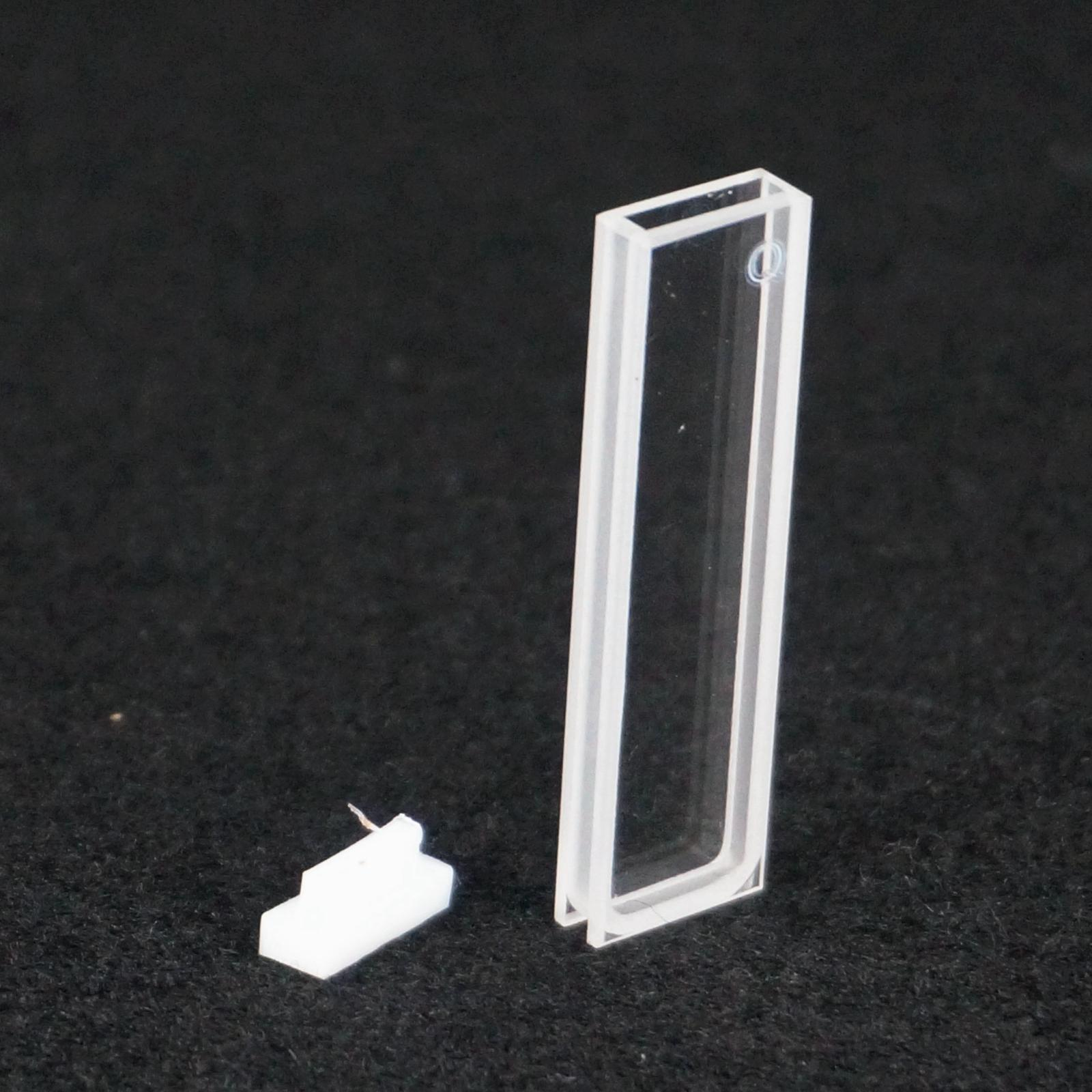2mm Path Length JGS1 Quartz Cuvette Cell With Telfon Lid For Uv Spectrophotometers