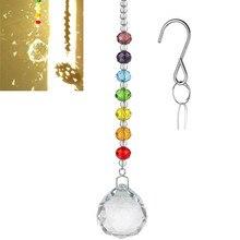 Lucky фэн шуй хрустальный шар призмы подвеска Маятник Висячие окна домашний декор