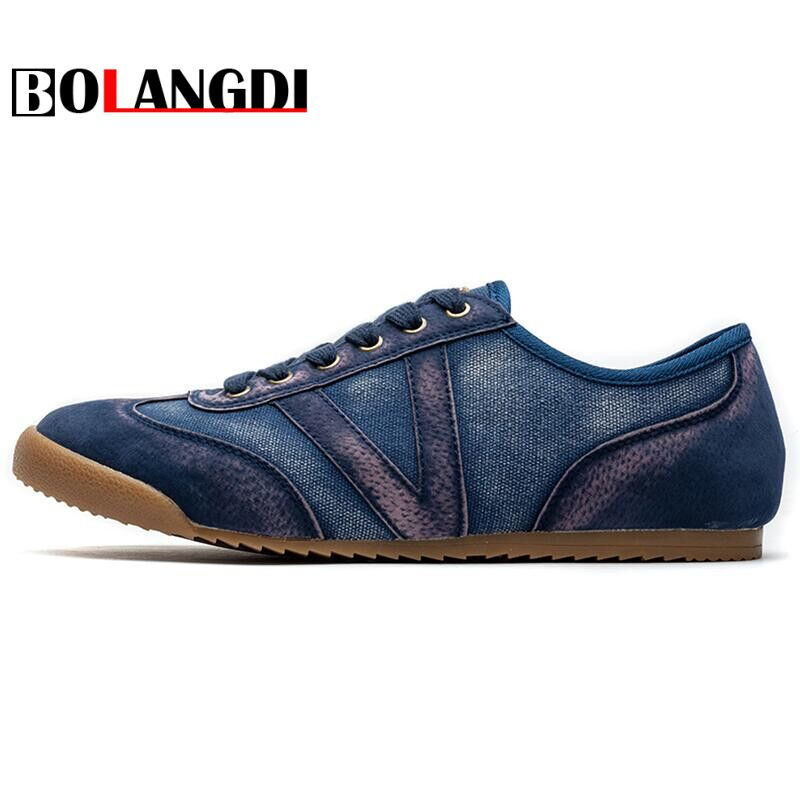 Bolangdi Spring Summer Mens Canvas Sneakers 2018 Men Running Shoes Trending Style Sports Shoes Breathable Male Trainers Sneakers