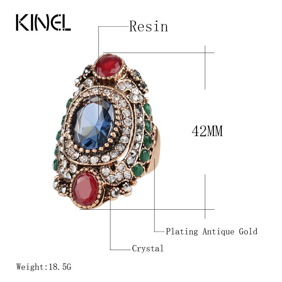 Turkey Jewellery Blue Vintage Wedding Wedding Rings For Colour - Նորաձև զարդեր - Լուսանկար 2