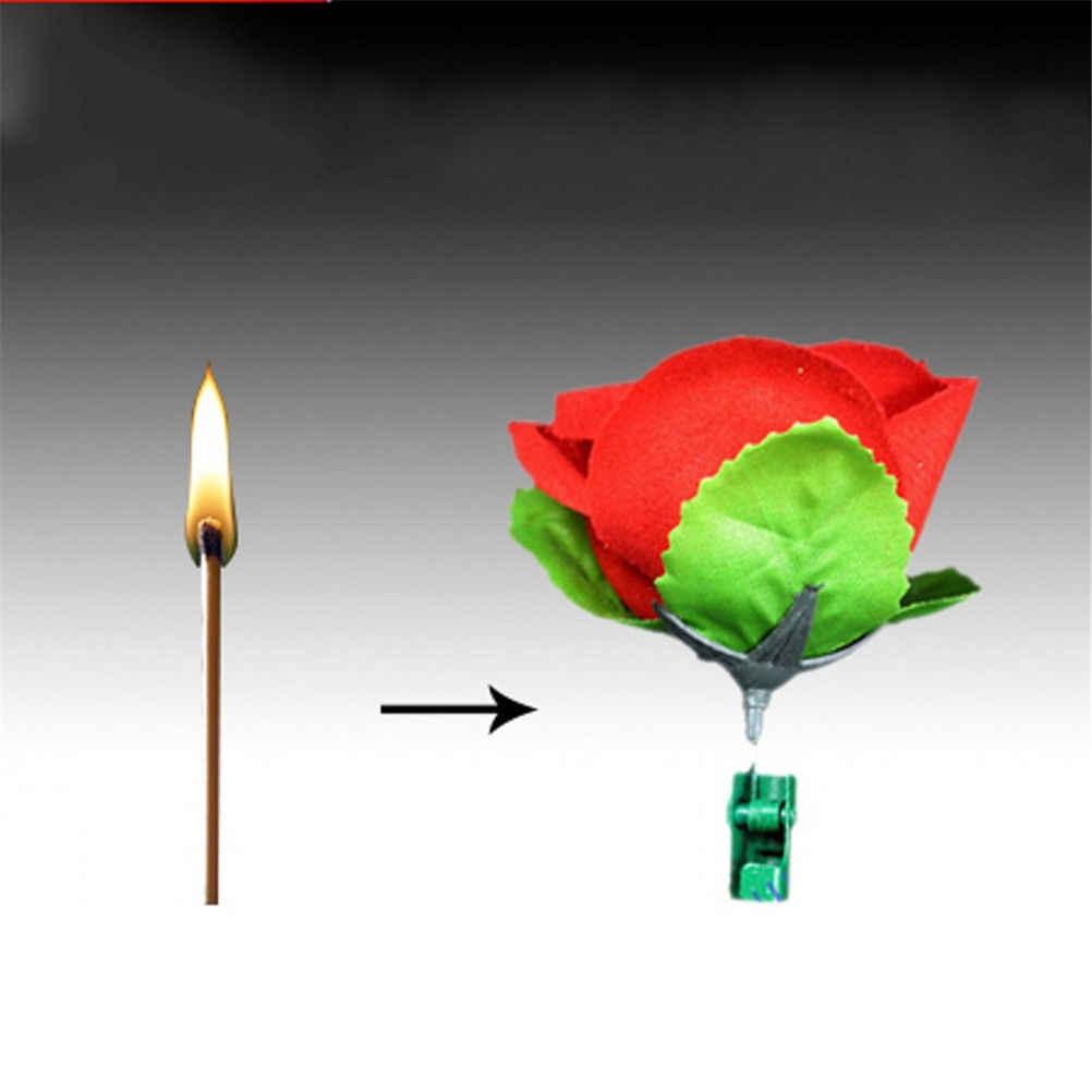 Fontes do festival de festa tocha rosa flor para o fogo truques chama novidade fase perto truque mágico alta qualidade