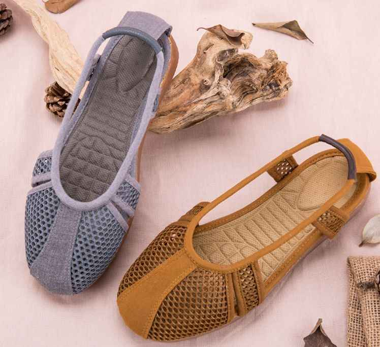 3color brown/gray/yellow summer net shaolin monk kung fu shoes sandals Buddhist lay meditation zen lohan arhat shoes