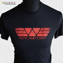 Лучший!  Футболка Weyland Corp Футболка Прометей Ретро Крутая Ютани Инопланетянин Рипли Сулако Ностром
