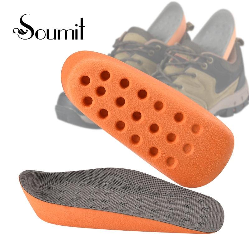 Soumit 2 cm magas magasságú zokni, masszírozó talpbetét Ergonómikus magasság növelő lélegző komfort talpbetét férfiak és nők számára