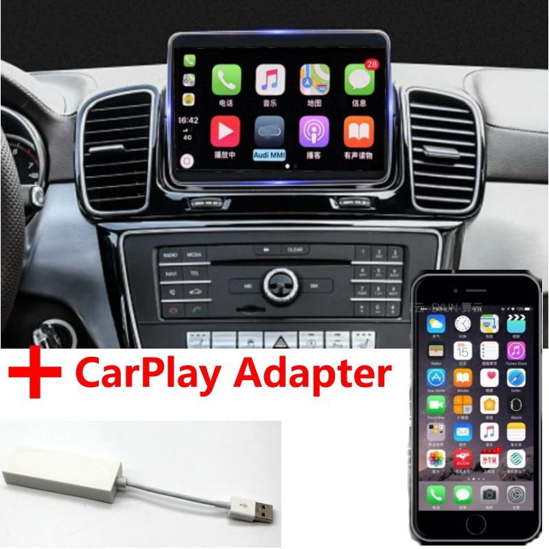 Liandlee voiture lecteur multimédia NAVI CarPlay adaptateur pour Mercedes Benz MB M GLE ML W166 2011 ~ 2018 autoradio GPS Navigation
