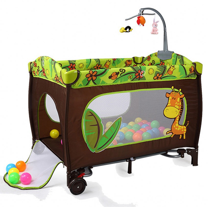 Multi-functional Baby Cribs Sleeping Bed Portable Folding Safe Baby Game Play Bed With 30pcs Ball