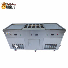 Fried Ice Cream Machine Maker with 10 Fresh Barrel Stainless Steel Hotel Commercial Machine for Cake/bakery/drink/coffee Shop