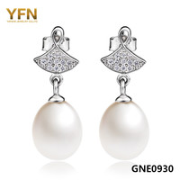 GNE0930 Free Shipping Natural Freshwater Pearls Drop Earrings 24 8 8mm For Women Fashion 925 Sterling