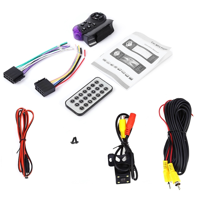 4032B 4.1 inch Vehicle-mounted MP5 Player Bluetooth Car Radio Audio Video TF USB Port  Camera Available Remote control