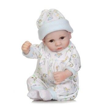 Simulación de goma completa para bebés niñas Trivial Love House, bolsa de dormir azul, juguetes de silicona Reborn
