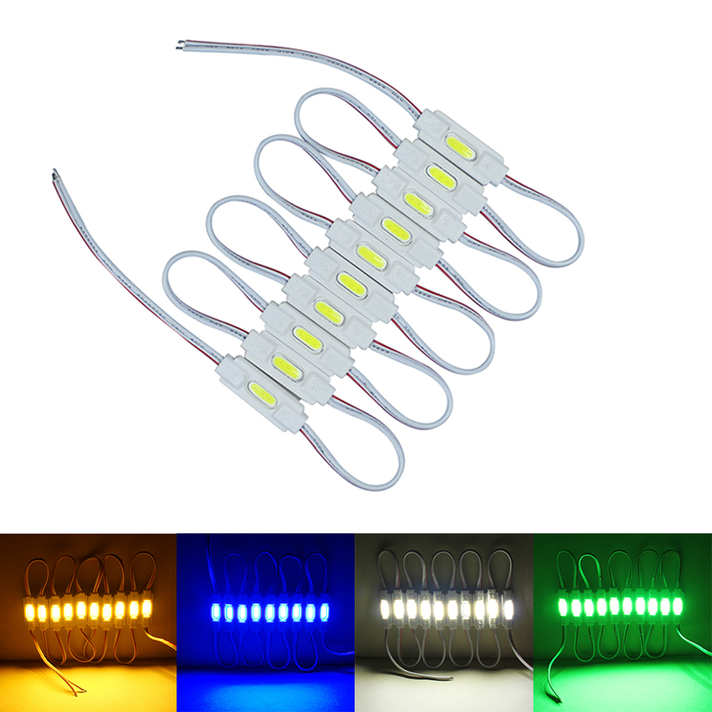 100Pcs Lot Injection COB LED Module White Warm White Red Green Blue DC12V Waterproof IP67 Led