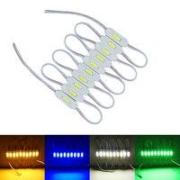 100Pcs/lot Injection COB LED module White/Warm White/Red/Green/Blue DC12V Waterproof IP67 led modules lighting Advertising lamp