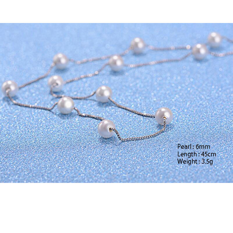 Pearl Box Chain Choker Necklace Jewelry Necklaces Women Jewelry