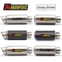 Akrapovic Motorcycle exhaust pipe muffler For suzuki gsr 750 farol ktm bmw k1200r accesorios harley kawasaki zr7 yamaha fz 25