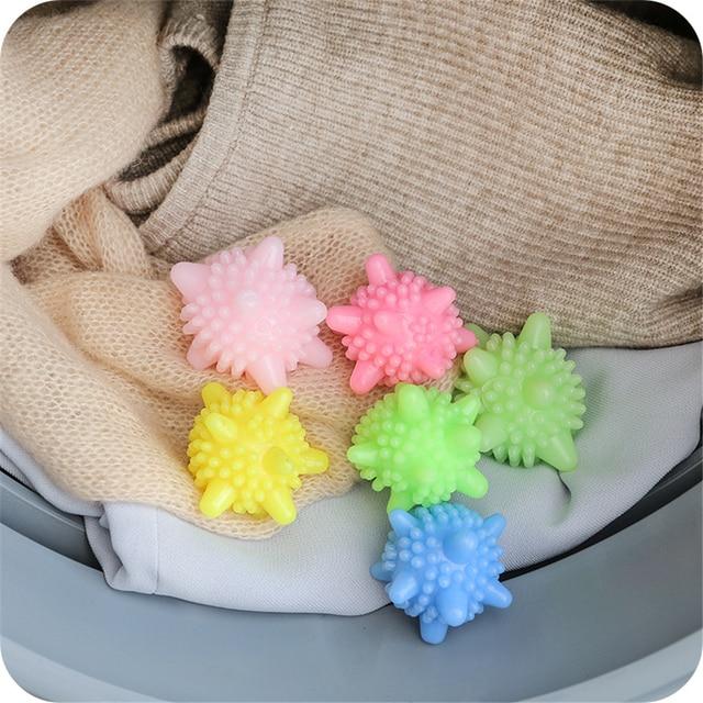 Dropship Anti-enrolamento Roupas Lavanderia Esfera de Lavagem Bola Limpeza Reutilizáveis Lavanderia Produto para Máquina De Lavar Roupa Secador de Bola Suavizar