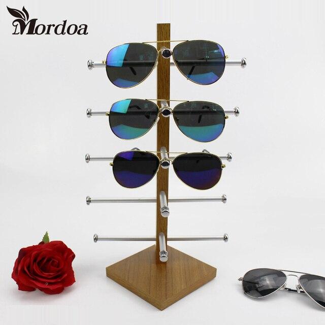 2017 High Quality Wood 5- layer Jewelry Display Desktop Eyeglasses Holder Sunglasses Display Rack Eyeglass Showing Stand Shelf
