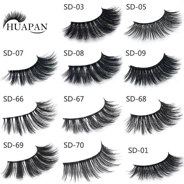 Huapan Fake Eyelashes 3d Handmade Mink Natural Cosmetic Eyelashes