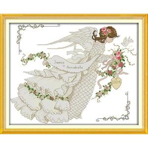 Цветочное свадебное платье, китайские наборы крестиков, экологичный хлопок, чистый штамп, сделай сам, 14CT, 11CT, рождественский подарок, свадеб...