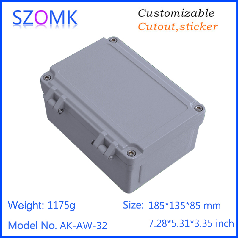 1 piece, 185*135*85mm die cast aluminum project enclosure hinged waterproof electronics controller shell instrument box free shipping new viwgp gr la 9632p card for lenovo g400 notebook motherboard hm70 for pentium cpu only