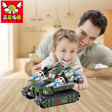Free Shipping educational small pcs blocks puzzling toy 262pcs DIY military tank model for children in gift box