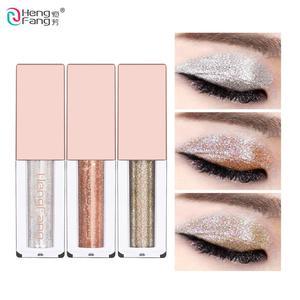 Image 1 - Elmas Boncuk Lightwater Sıvı Göz farı 6 Renk Glitter Göz Farı 3.8g Güzellik Gözler Makyaj Marka HengFang