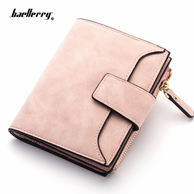2019 Leather Women Wallet Hasp Small and Slim Coin Pocket Purse Women Wallets Cards Holders Luxury Brand Wallets Designer Purse(China)